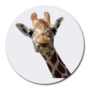 GIRAFFE  wild animal Mouse pad large  13435921