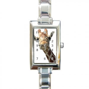 GIRAFFE Rectangular Italian Charm Photo Watch 13435916