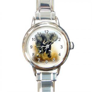 Elephant Round Italian Charm Photo Watch 13389212