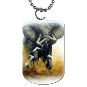 ELEPHANT Design Dog Tag Necklace 13621499