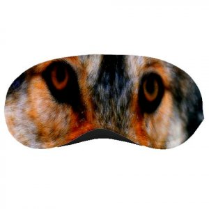 WOLF Face SLEEPING MASK Polyester foam Wild animals  22734976
