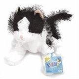 "Webkinz Black and White Cat  New 8.5"" Plush Pet with Unused Code"