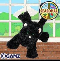 Webkinz Black Cat New Plush Pet with Unused Code