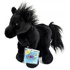 Webkinz Black Stallion (Friesian) New Plush Pet with Unused Secret Code