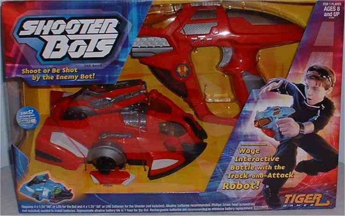 Shooter Bot Laser Tag Artificial Intelligence Robotic Shooting Game by Tiger Electronics