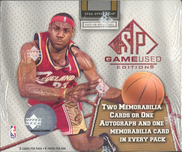 2007/08 Upper Deck SP Game Used Basketball Hobby Box