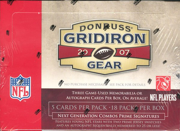2007 Donruss Gridiron Gear Football Hobby 8 Box Case
