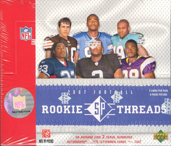 2007 Upper Deck SP Rookie Threads Football Hobby 10 Box Case