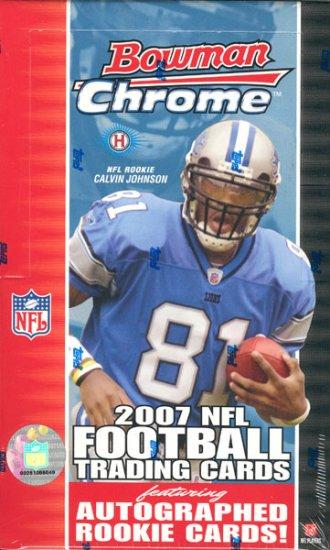 2007 Bowman Chrome Football Hobby Box