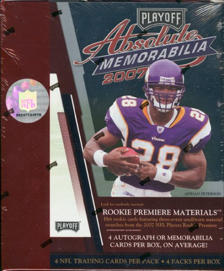 2007 Playoff Absolute Memorabilia Football Hobby Box