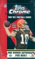 2007 Topps Chrome Football Hobby Box