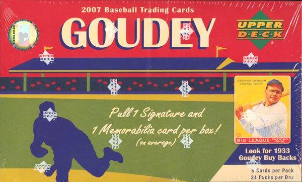 2007 Goudey Baseball Hobby Box (Upper Deck)