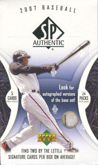 2007 Upper Deck SP Authentic Baseball Hobby Box