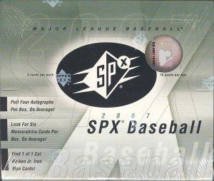 2007 Upper Deck SPx Baseball Hobby Box