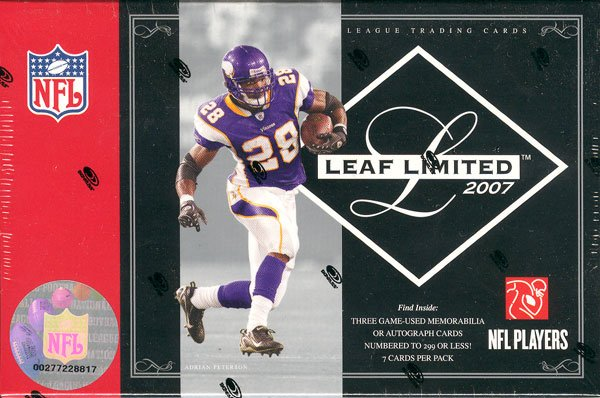2007 Leaf Limited Football Hobby Box