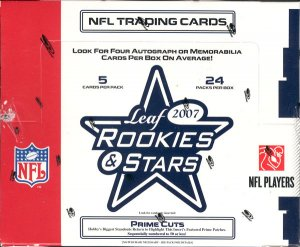 2007 Leaf Rookies & Stars Football Hobby Box