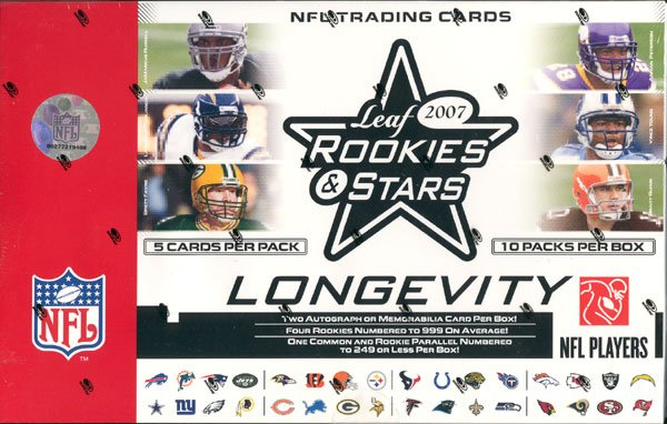 2007 Leaf Rookies & Stars Longevity Football Box