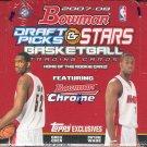 2007/08 Bowman Draft Picks & Stars Basketball Hobby Box
