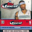 2006/07 Topps Finest Basketball Hobby Box