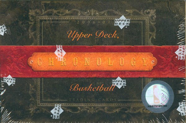2006/07 Upper Deck Chronology Basketball Hobby Tin/Box