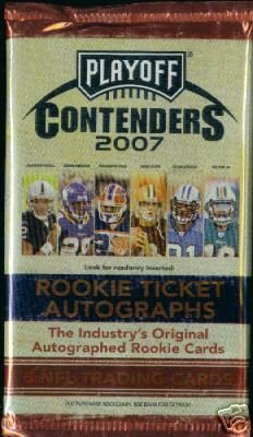 2007 Playoff Contenders Football Hobby Pack