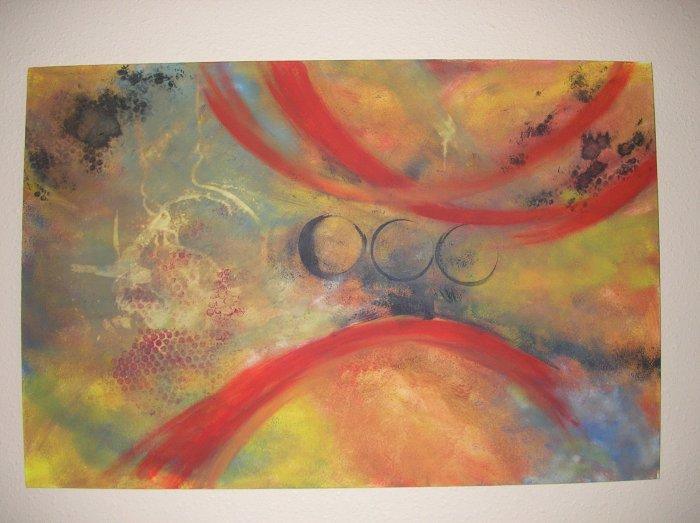 Duane Cash Acrylic Painting 24 x 36 - Original Spiritual Abstract Art