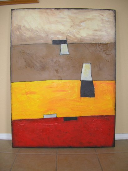 Duane Cash Acrylic Textured Painting 36 x 48 - Original Abstract Art - Thick Canvas