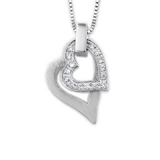18K Diamond Heart Necklace