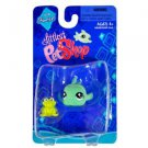 "Littlest Pet Shop ""Fanciest"" Figure Green Clown Goby Fish with Mini Frog"