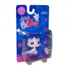 "Littlest Pet Shop ""Littlest"" Figure Pink and Purple Cat with a Necklace"