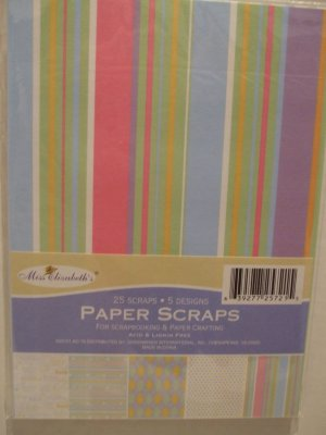 Paper Scraps for Scrapbooking & Paper Crafting Baby Theme