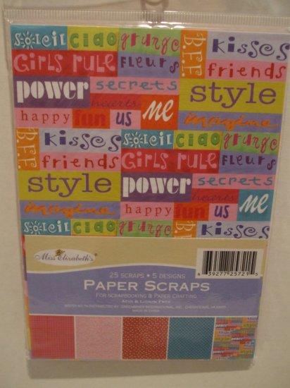 Paper scraps for Scrapbooking Girl Theme