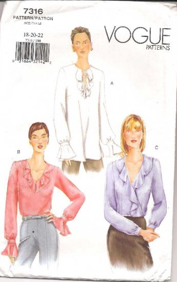 VOGUE Pattern No. 7316