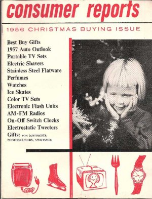 CONSUMER REPORTS-1956 CHRISTMAS BUYING GUIDE