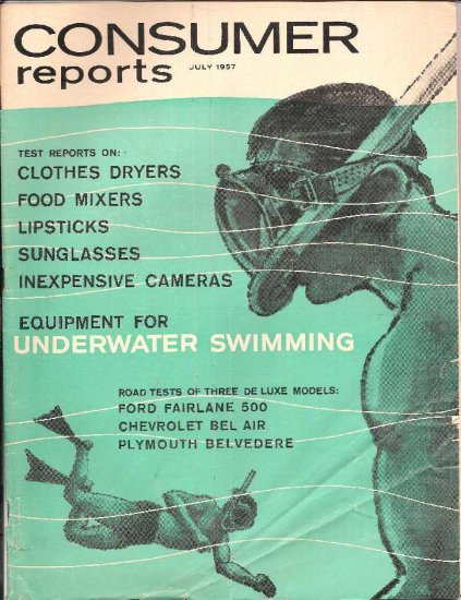 CONSUMER REPORTS- JULY 1957