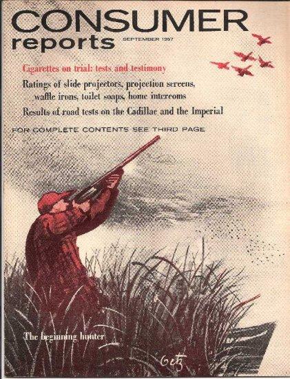 CONSUMER REPORTS - SEPTEMBER 1957