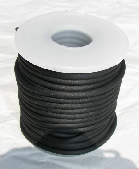 Black Round Rubber Cord-1mm