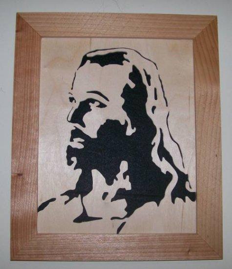 Jesus, Scroll saw portrait