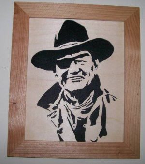 Tonya and Joe's Creative Scroll Saw Cuts: John Wayne