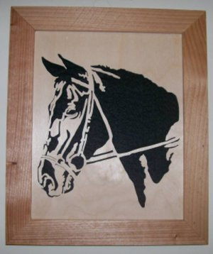 Horse Head1 Scroll Saw Picture
