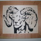 Bighorn Sheep Scroll Saw Picture