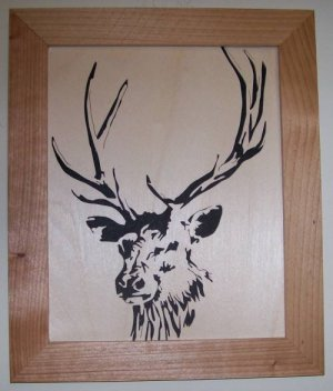 Elk1 Scroll Saw Picture