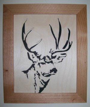 Mule Deer Scroll Saw Picture