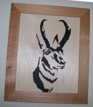 Pronghorn Antelope Scroll Saw Picture