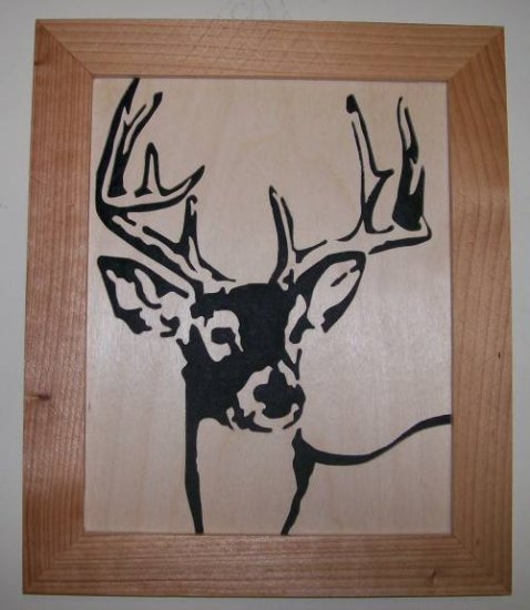 Whitetail Deer2 Scroll Saw Picture