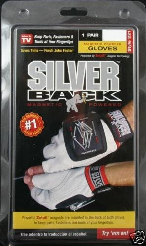 Silverback Magnetic Work Gloves cowhide Silver Back NEW