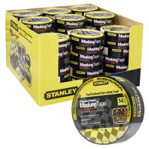 "Stanley Blue Painters Masking Tape 1.4"" x 10 yds paint"
