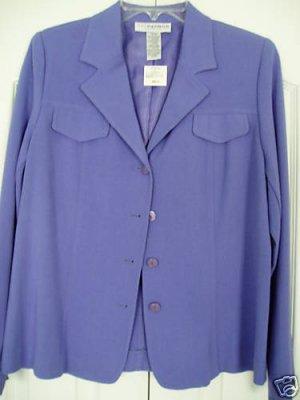 Sag Harbor Jacket Blazer Size 8 Blue Stretch Work NEW