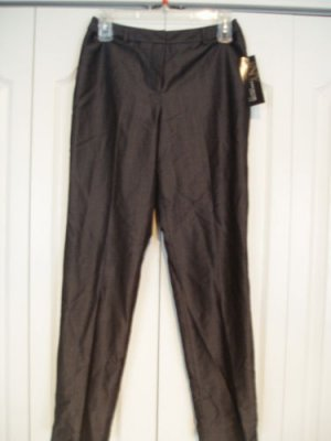 Jones New York Pants Slacks 4P Pinstripe Wool Slate NEW