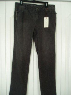 Simply Vera Wang Jeans Dungaree Denim Pants 14P Grey